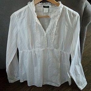 J. Crew raffled front blouse